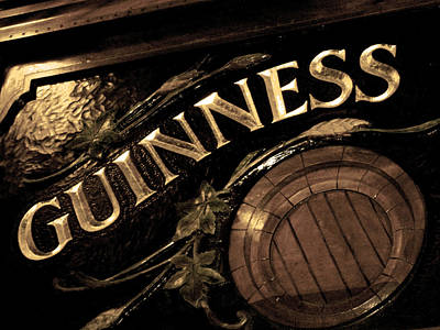Time For A Guinness Print by Sheryl Burns