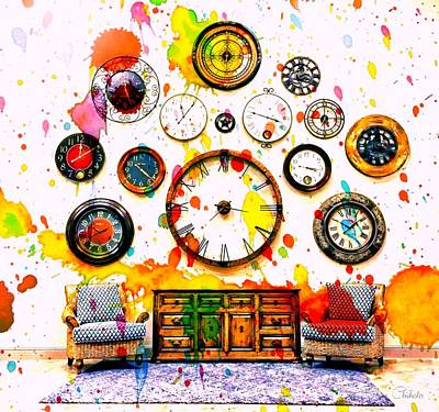 Time For Art Print by Barbara Chichester