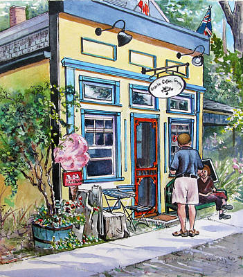 Painting - Time For Coffee by Margit Sampogna