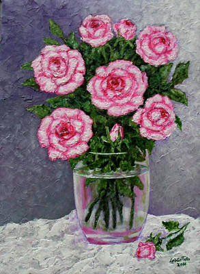 Rosaceae Painting - Time For Roses by Madalena Lobao-Tello