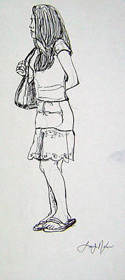 Drawing - Time For Serious Shopping by Lee Nixon