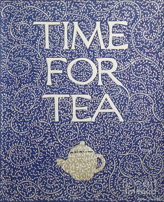 Drawing - Time For Tea 2017 by Donna Huntriss