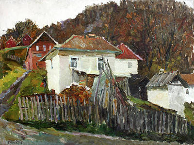 Painting - Time For Use The Stove. November In The Serbia. by Juliya Zhukova
