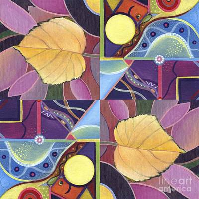 Painting - Time Goes By - The Joy Of Design Series Arrangement by Helena Tiainen