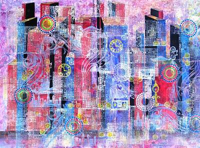Time In The City Art Print by David Raderstorf