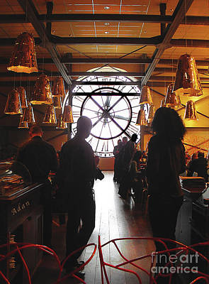 Photograph - Time In The Musee Dorsay Cafe by Felipe Adan Lerma