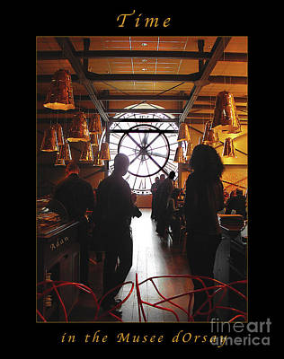 Photograph - Time In The Musee Dorsay Cafe Poster by Felipe Adan Lerma