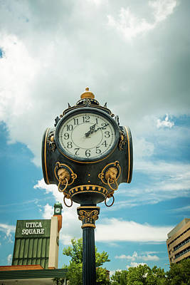 Photograph - Time In Utica Square - Tulsa Oklahoma by Gregory Ballos