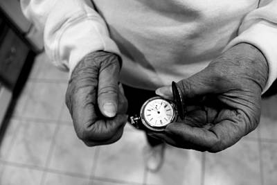 Old Grandfather Time Photograph - Time Is Almost Up by Marley Hornewer