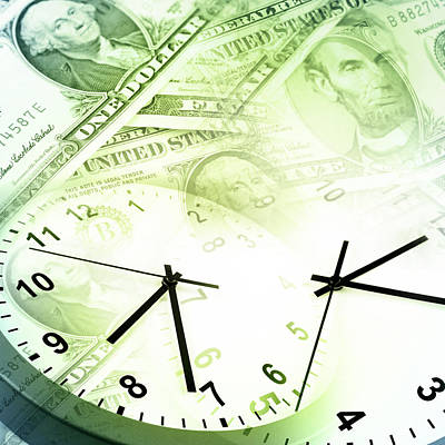 Debt Photograph - Time Is Money  by Les Cunliffe