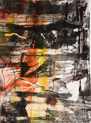 Xerox Mixed Media - Time Is The Fire In Which We Burn-part 1 by Seymour Kleinberg