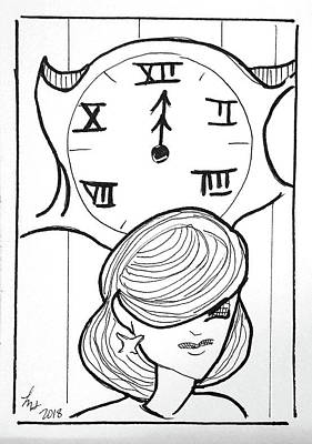 Drawing - Time by Loretta Nash