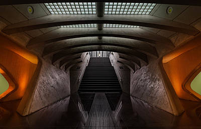Railway Station Photograph - Time Machine by Michiel Hageman