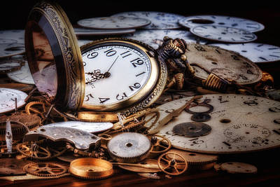 Time Machine Still Life Art Print by Tom Mc Nemar