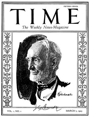 Retiree Photograph - Time Magazine, 1923 by Granger