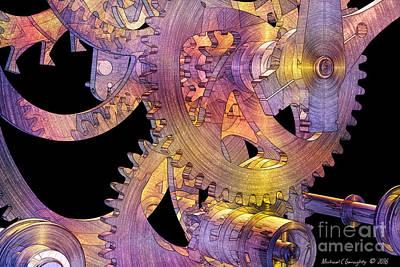 Michael C Geraghty Digital Art - Time Mechanics V2a by Michael Geraghty