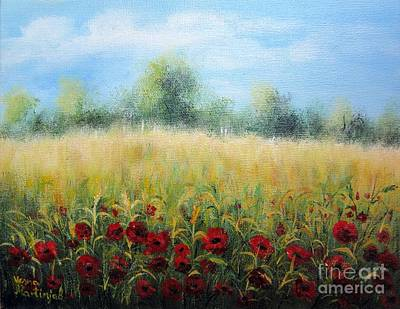Painting - Time Of Poppies by Vesna Martinjak
