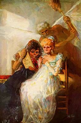 Painting - Time Of The Old Women 1820 by Goya Francisco