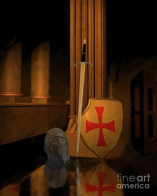 Fantasy Royalty-Free and Rights-Managed Images - Time of the Templars by Esoterica Art Agency