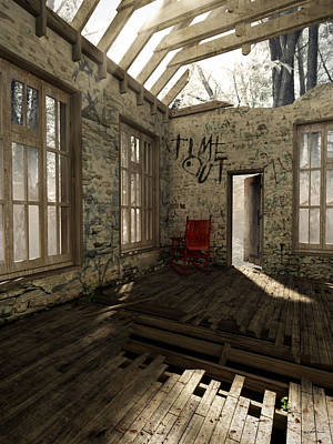 Dilapidated Digital Art - Time Out by Cynthia Decker