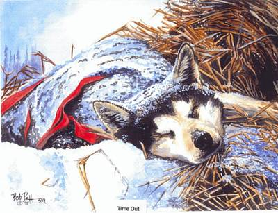 Iditarod Painting - Time Out On The Trail by Bob Patterson