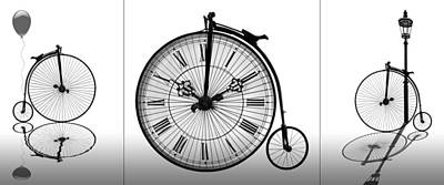 Photograph - Time To Ride Penny Farthing Panoramic by Gill Billington