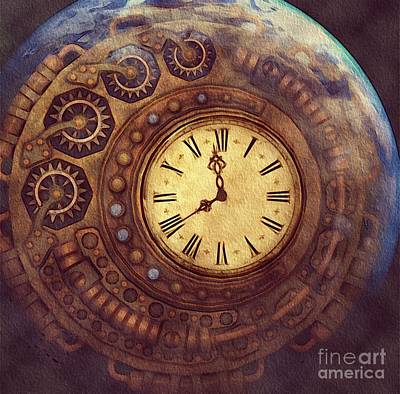 Steampunk Royalty-Free and Rights-Managed Images - Time Passes Away by Sarah Kirk