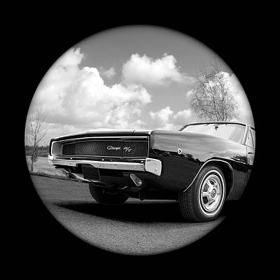 Photograph - Time Portal - '68 Dodge Charger by Gill Billington