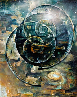 Digital Art - Time Spirals by Bruce Rolff