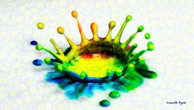 Splashing Digital Art - Time Splashing - Da by Leonardo Digenio