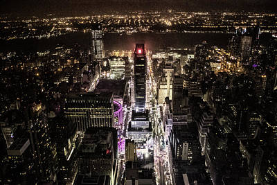 Times Square Photograph - Time Square From Above by Martin Newman
