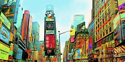 Photograph - Time Square Midtown Manhattan New York City 20180517 by Wingsdomain Art and Photography