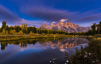 Long Exposure Photograph - Time Stops Over Tetons by Edgars Erglis