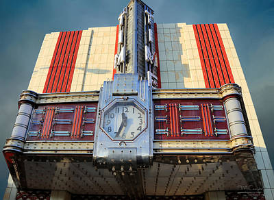 The Who - Time Theater Marquee 1938 by Theresa Campbell