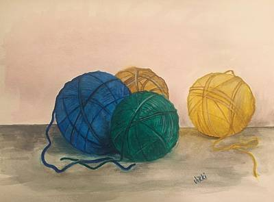 Painting - Time To Crochet by Vikki Angel