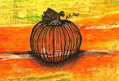 Drawing - Time To Get Pumkin by MaryLee Parker