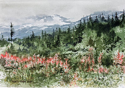 Fireweed Painting - Time To Go Home by Monte Toon