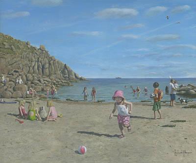 Time To Go Home - Porthgwarra Beach Cornwall Art Print