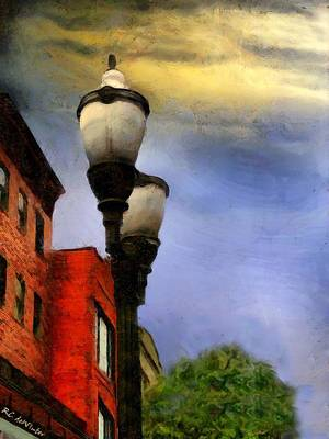 Painting - Time To Light The Lamps by RC deWinter