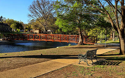 Photograph - Time To Relax At Landa Park by Judy Vincent