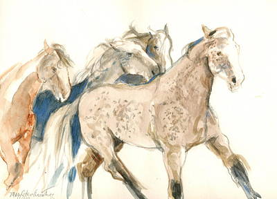 Time To Run Art Print by Mary Armstrong