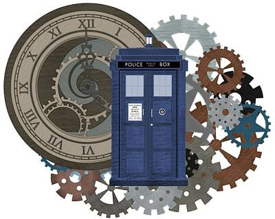 Fandom Digital Art - Doctor Who Inspired Time Travel by Alondra Hanley