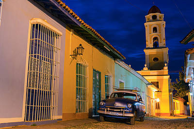 Old Chervolet Photograph - Blue Hour In Trinidad by Blaz Gvajc