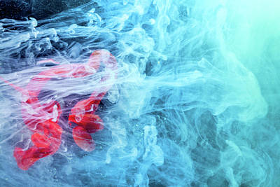 Colorful Painting - Time Travel - Blue Abstract Photography by Modern Art Prints