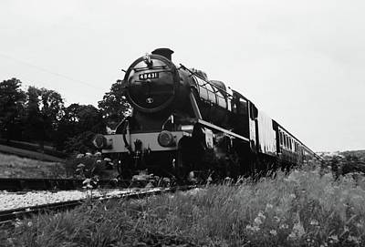 Swindon Photograph - Time Travel By Steam B/w by Martin Howard