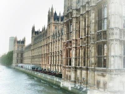 Westminster Palace Photograph - Time Travel by Connie Handscomb