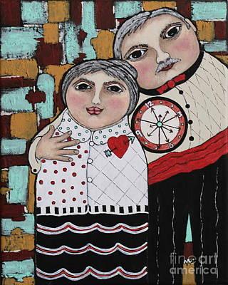 Balck Art Painting - Time Travelers by Stewalynn Art