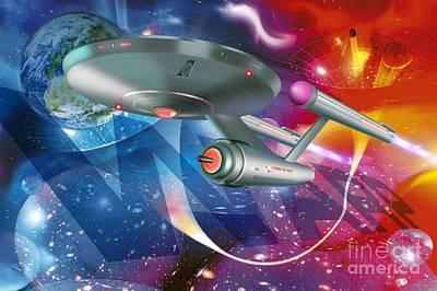 Time Traveling Spacecraft, Artwork Art Print