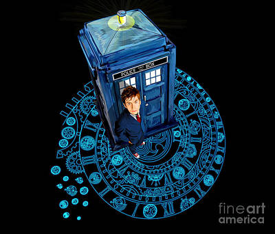Fandom Digital Art - Time Traveller At Arch Of Time Zone by Three Second
