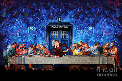 The Last Time Painting - Time Traveller Lost In The Last Supper by Three Second